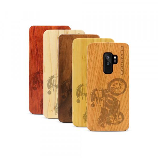 Galaxy S9+ Hülle Zündapp KS 80 aus Holz