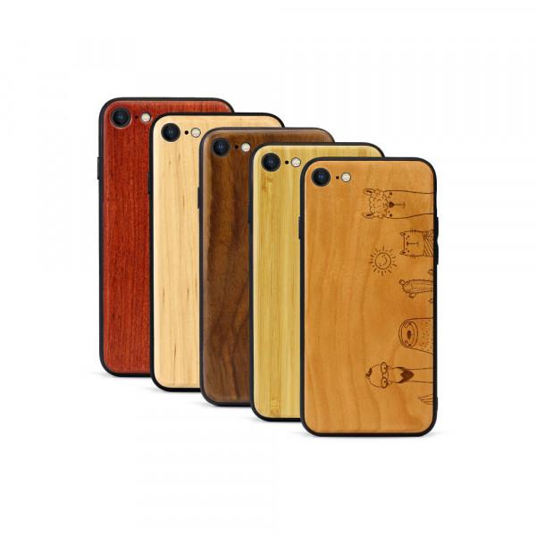 iPhone 8 & SE Hülle Animal Friends aus Holz