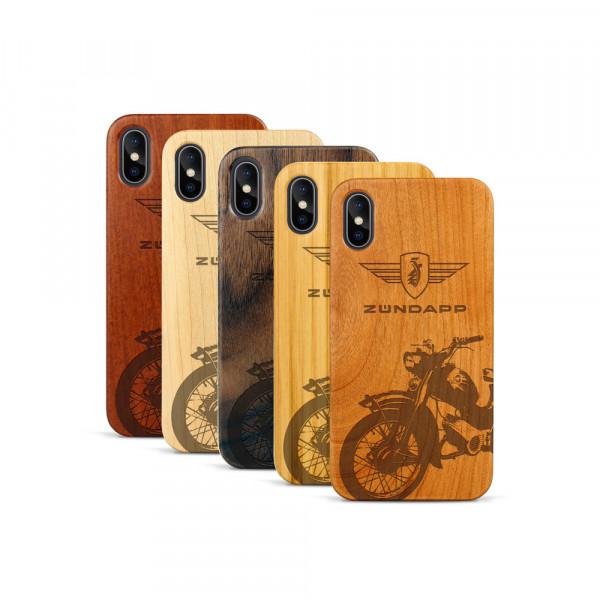 iPhone X & Xs Hülle Zündapp C 50 Super aus Holz