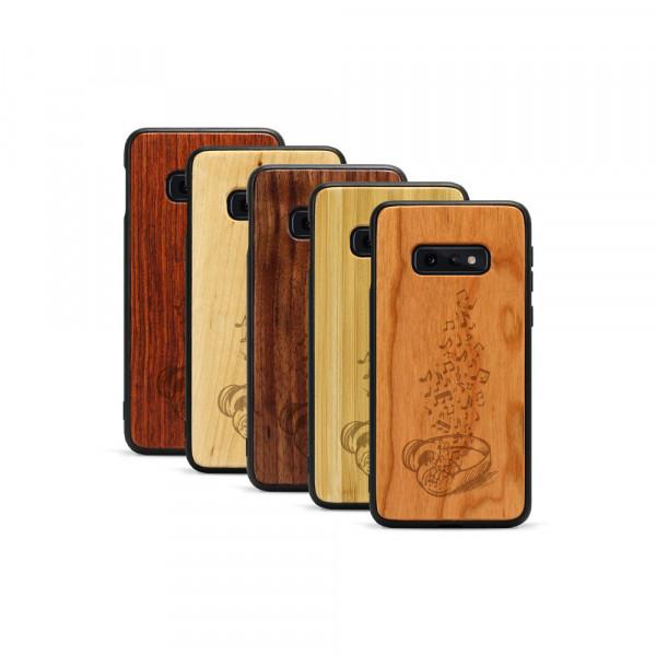 Galaxy S10e Hülle Headphones aus Holz