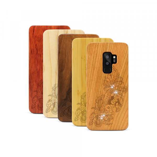 Galaxy S9+ Hülle All you need Swarovski® Kristalle aus Holz