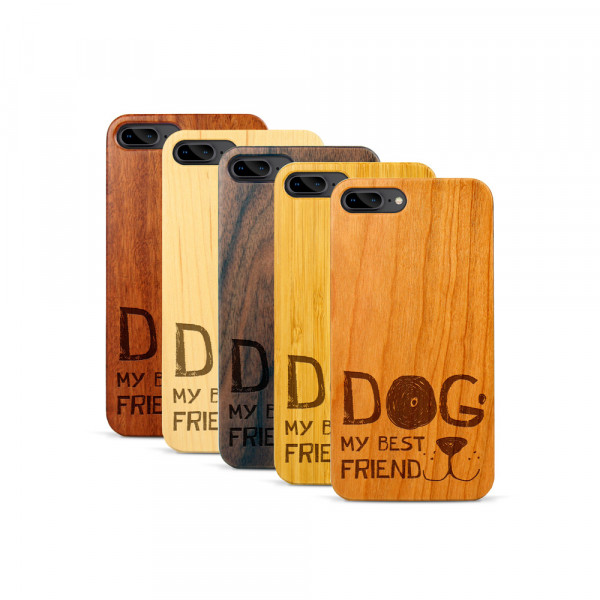 iPhone 7 & 8 Plus Hülle Dog best friend aus Holz
