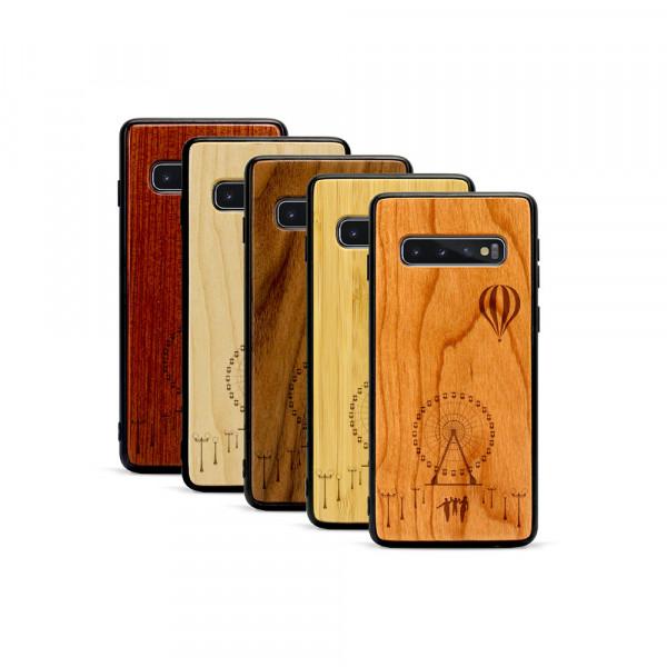 Galaxy S10+ Hülle Jahrmarkt aus Holz