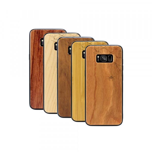Galaxy S8 Hülle Spinnennetz aus Holz
