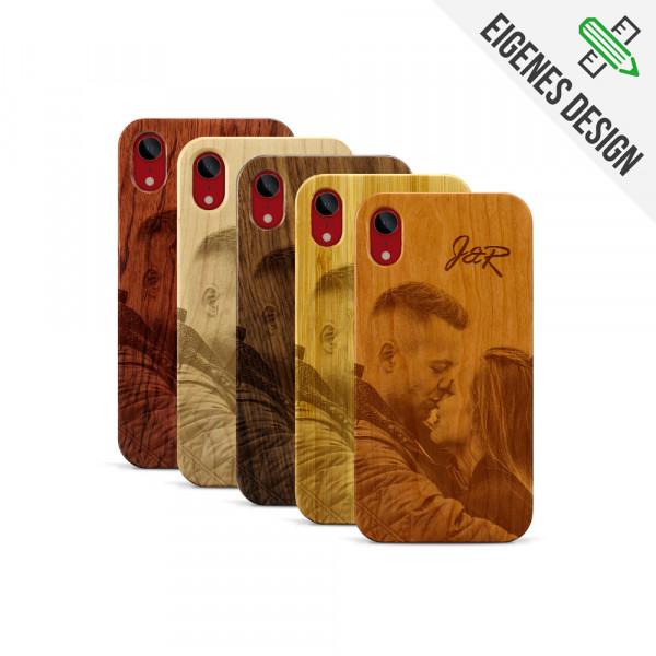 iPhone XR Hülle aus Holz selber gestalten mit individueller Gravur