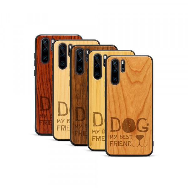 P30 Pro Hülle Dog best friend aus Holz