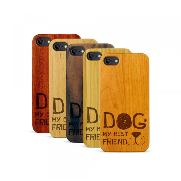 iPhone 7 Hülle Dog best friend aus Holz