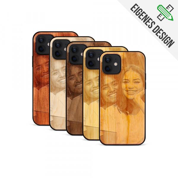 iPhone 12 Mini Hülle aus Holz selber gestalten mit individueller Gravur