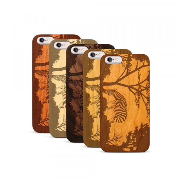 iPhone 6 & 6S Hülle Wildlife Zebra aus Holz