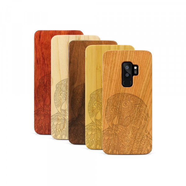 Galaxy S9+ Hülle Papagei aus Holz