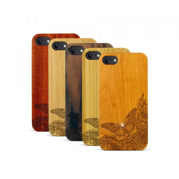 iPhone 7 Hülle Schmetterling Swarovski® Kristalle aus Holz
