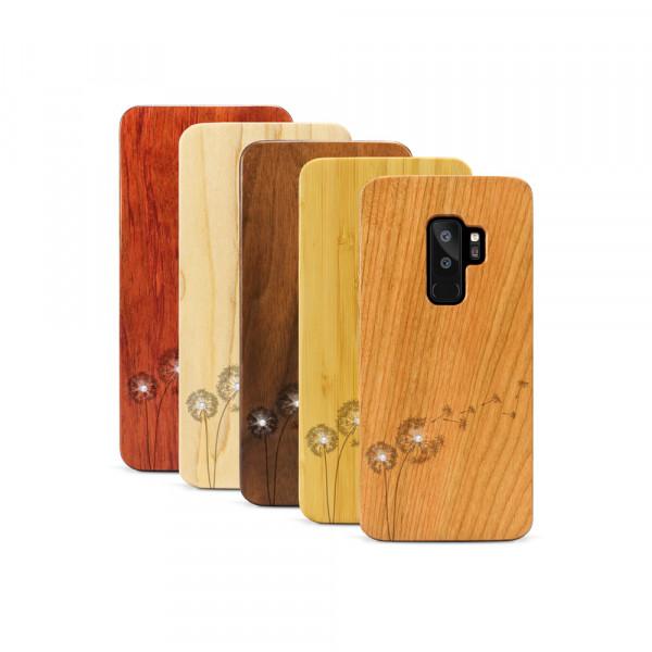 Galaxy S9+ Hülle Pusteblume Swarovski® Kristalle aus Holz