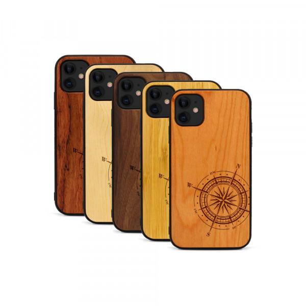 iPhone 11 Hülle Kompass aus Holz