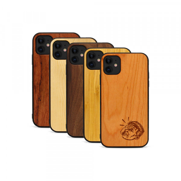 iPhone 11 Hülle Ouch aus Holz