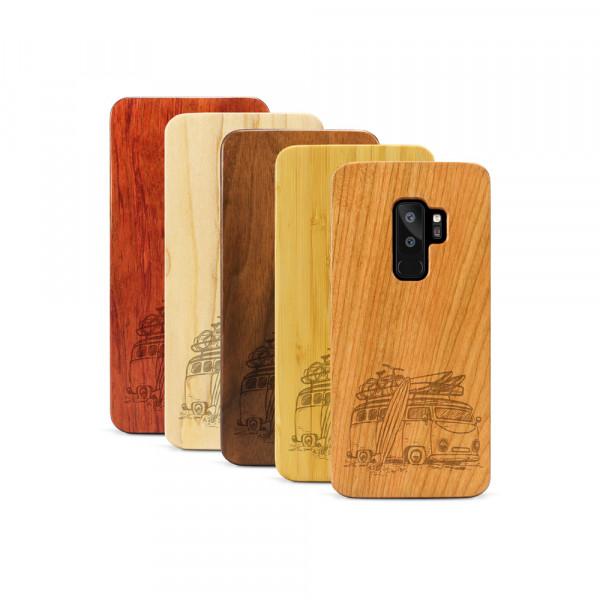 Galaxy S9+ Hülle Camper Van aus Holz