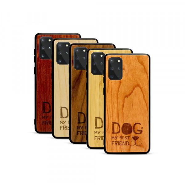 Galaxy S20+ Hülle Dog best friend aus Holz