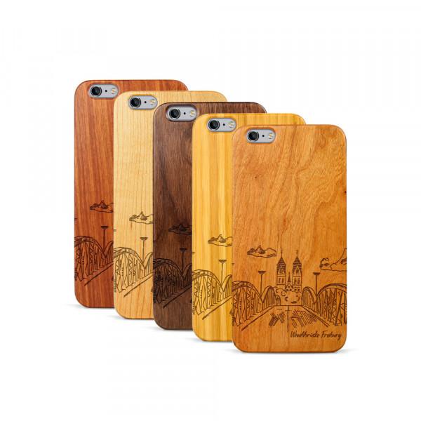 iPhone 6 & 6S Plus Hülle Freiburg Wiwilíbrücke aus Holz