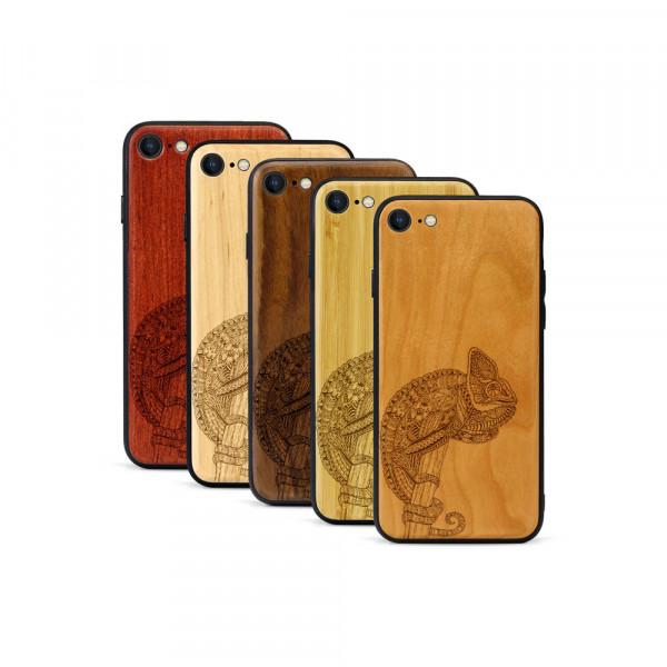 iPhone 8 & SE Hülle Chamäleon aus Holz