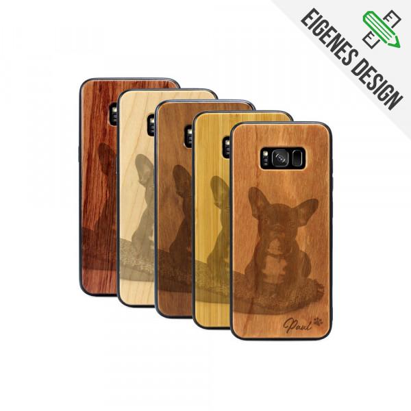 Galaxy S8 Hülle aus Holz selber gestalten mit individueller Gravur