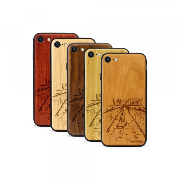 iPhone 8 & SE Hülle Freiburg Bächleboot aus Holz