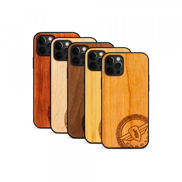 iPhone 12 Pro Max Hülle Zündapp Logo Klassik aus Holz