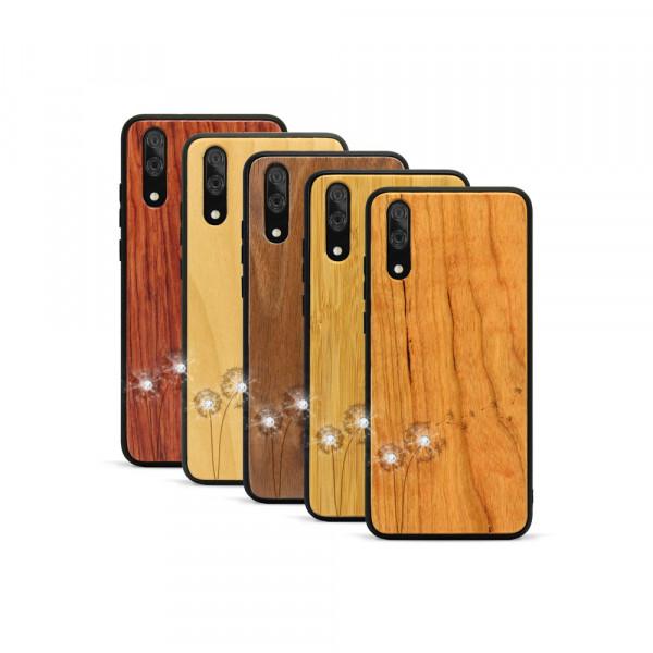 P20 Hülle Pusteblume Swarovski® Kristalle aus Holz