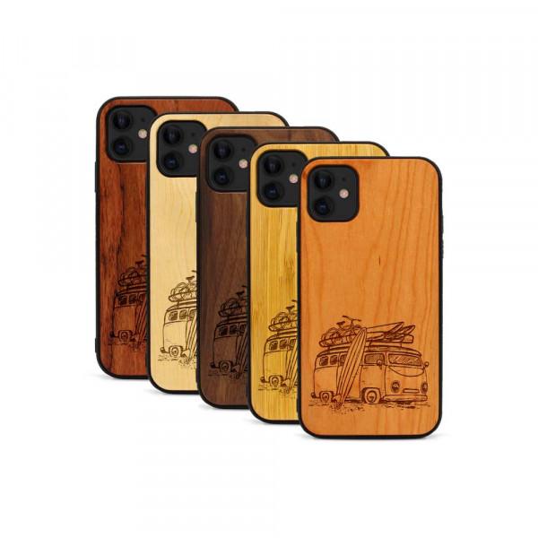 iPhone 11 Hülle Camper Van aus Holz