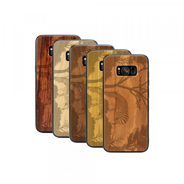 Galaxy S8 Hülle Wildlife Zebra aus Holz