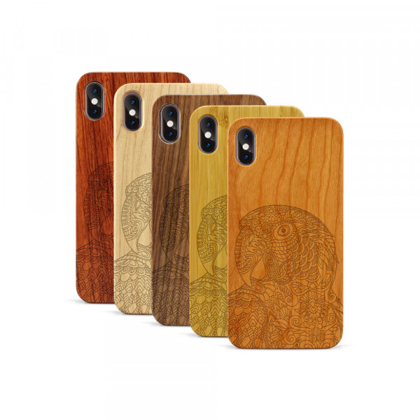 iPhone XS Max Hülle Papagei aus Holz