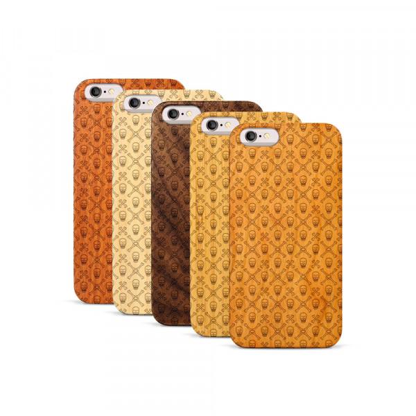 iPhone 6 & 6S Hülle Totenkopf Pattern aus Holz