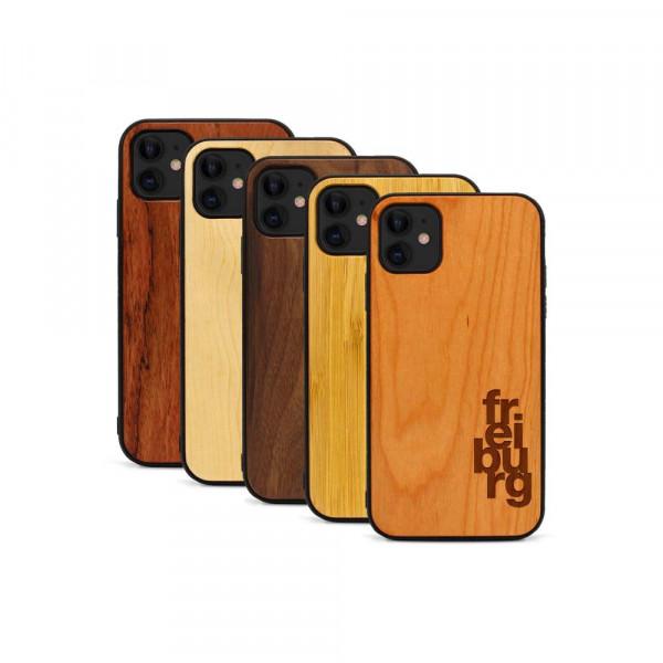 iPhone 11 Hülle fr ei bu rg aus Holz